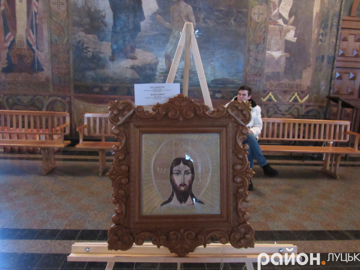 Ікона майстрині з зображенням Ісуса Христа