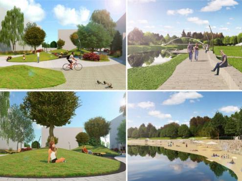 Реконструкція парків-скверів у Луцьку