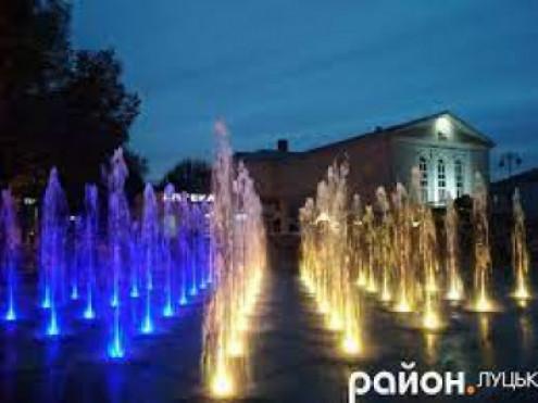 Новий фонтан у центрі Луцька