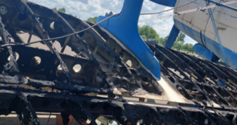 У Крупі на аеродромі згоріло майно авіаклубу
