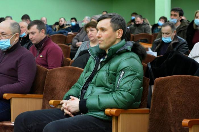 Під час сесії Підгайцівської сільради (лютий 2021 р.)