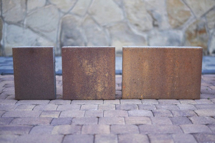 Бруківка бронзового кольору (з використанням жовтого, помаранчевого та коричневого барвників)