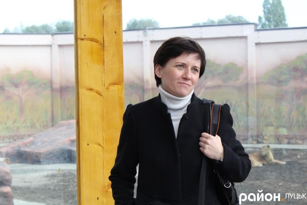 Генеральний Консул Республіки Польща в Луцьку Пані Беата Бживчи також завітала до оновленого зоопарку