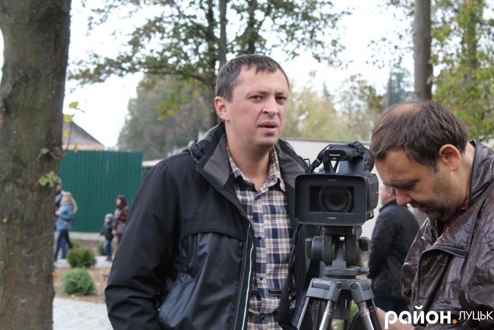 Ігор Чорнуха також завітав на свято відкриття, адже саме його підприємство «Луцьксантехмонтаж №536» стало виконавцем будівельних робіт