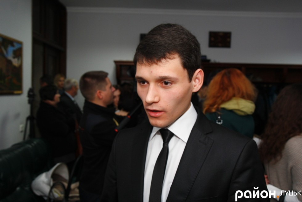 Олександ Лазука - один із наймолодших депутатів Луцької міської ради, балотувався від Громадянського руху Народний контроль