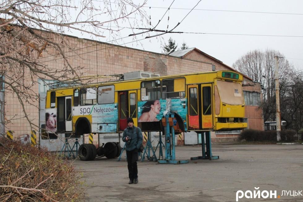 Польський тролейбус, який не встиг довго прожити в Луцьку