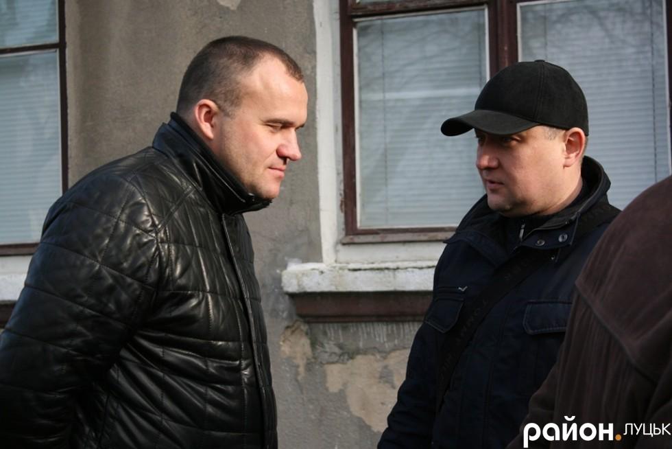 Депутати міськради Петро Нестерук та Юрій Безпятко