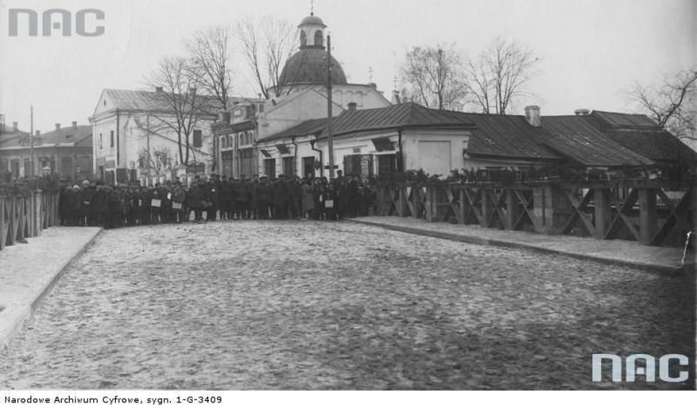 Відкриття Братського мосту через Глушець (тоді він називався міст Казимира Великого)
