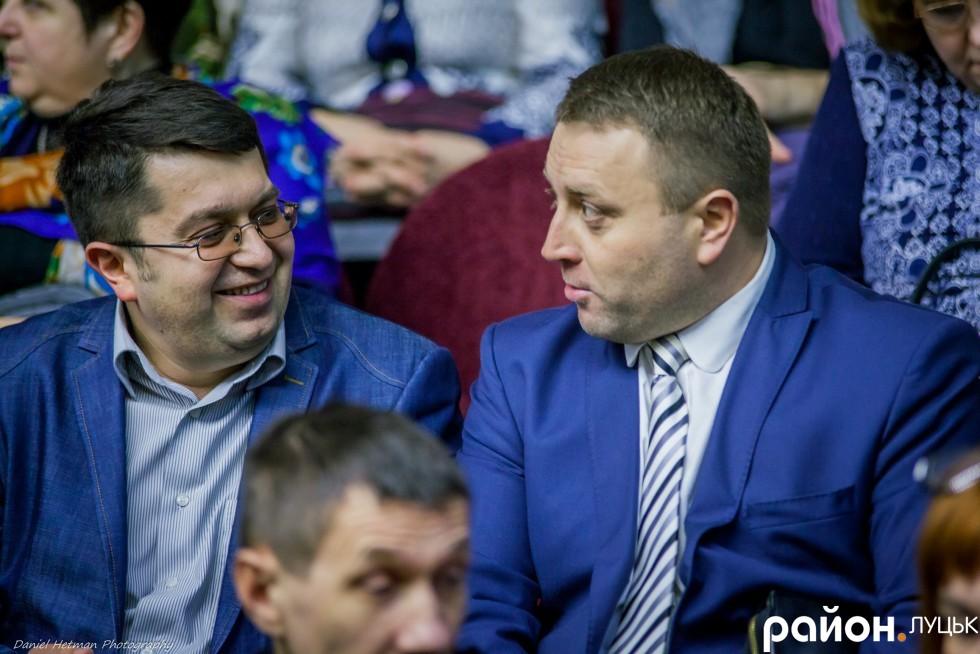 Директор комунального підприємства «Луцькмістобуд» Андрій Маруняк (зліва)