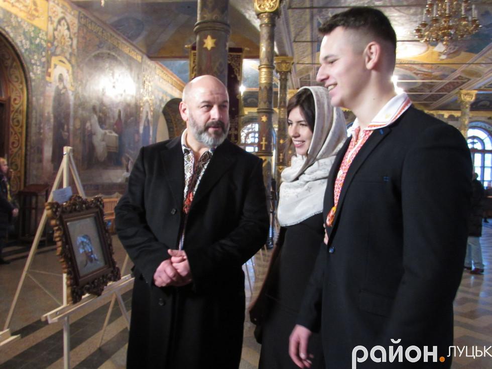 Зліва на право: чоловік Юлії Токарської Василь, донька Анастасія, син Василь