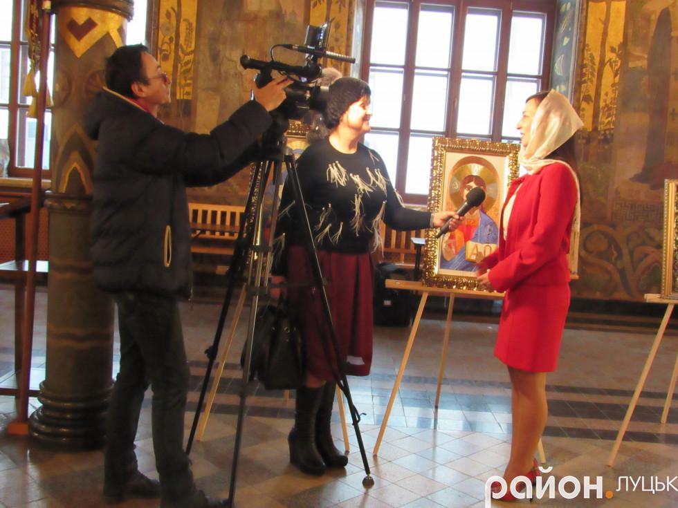Волинське телебачення «Нова Волинь» бере коментар у Юлії Токарської