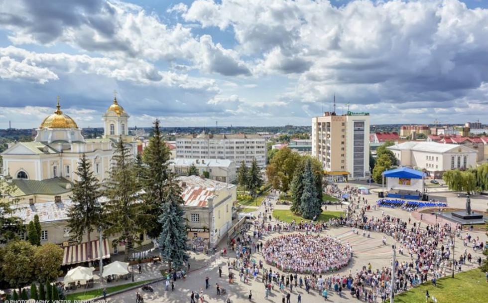 Центр Луцька у День незалежності