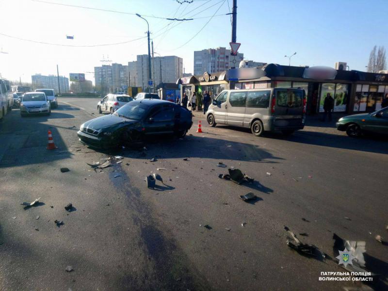 Аварія на вулиці Гордіюк в Луцьку