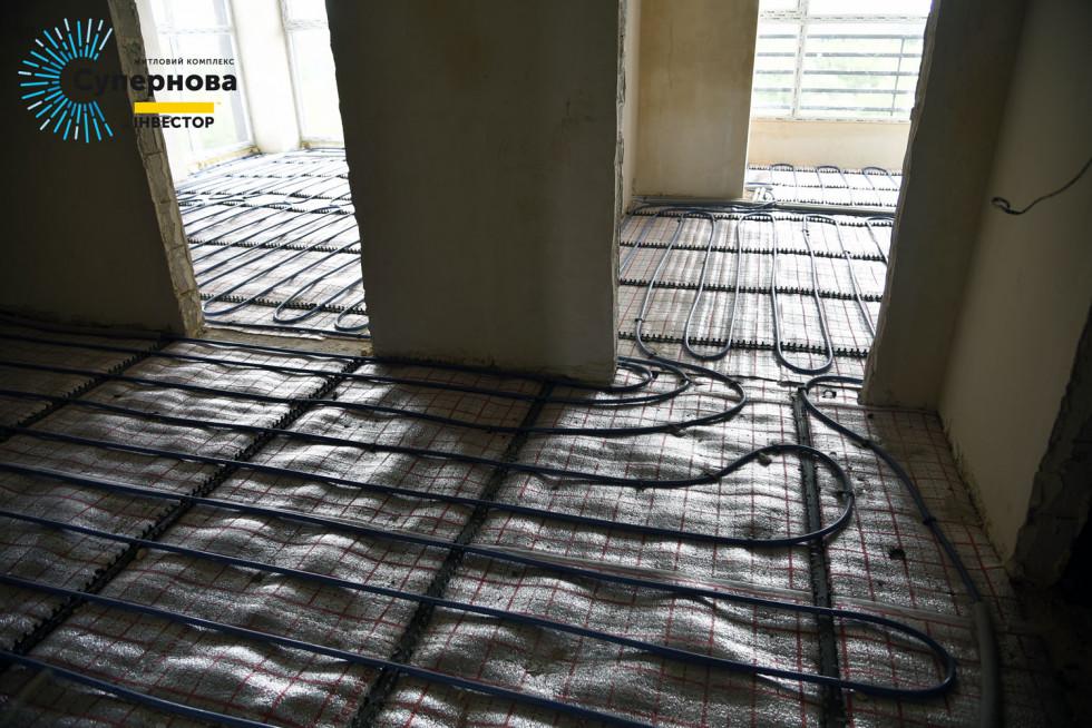 Монтаж теплої підлоги в четвертому будинку