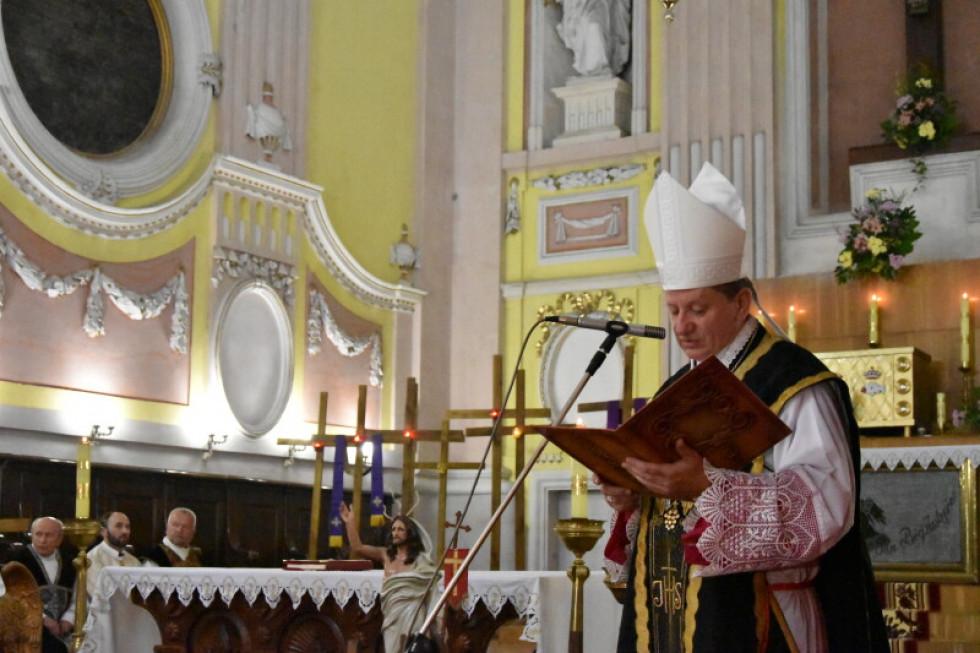 Святу месу очолив єпископ-ординарій Луцької дієцезії Римсько-Католицької Церкви Віталій Скомаровський