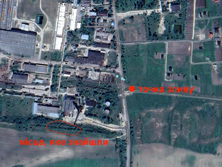 Місце розташування колектора на мапі Луцька