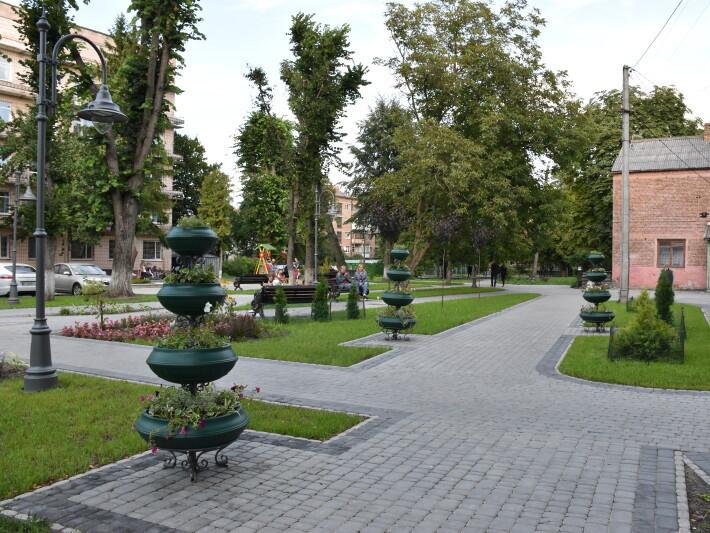 сквер в центрі Луцька