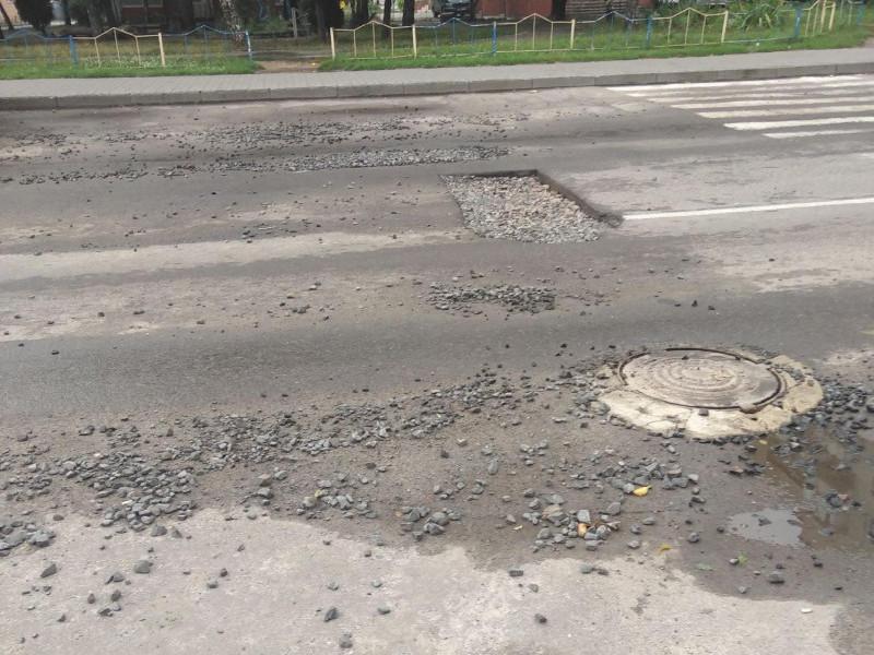 яма на вулиці Кравчука