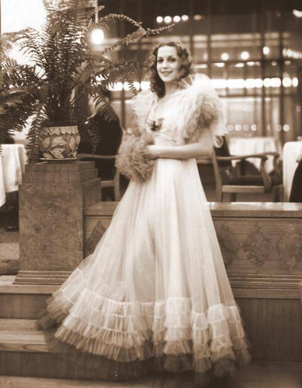 Тамара Вишневська, 1930-ті роки.