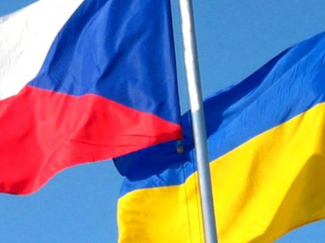 Прапори Чехії та України