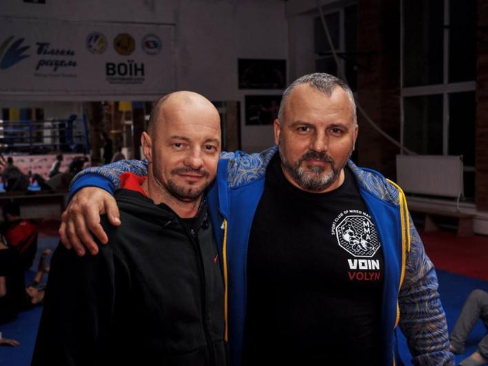 Тренери СК «Воїн» Андрій Зічнук та Дмитро Василенко