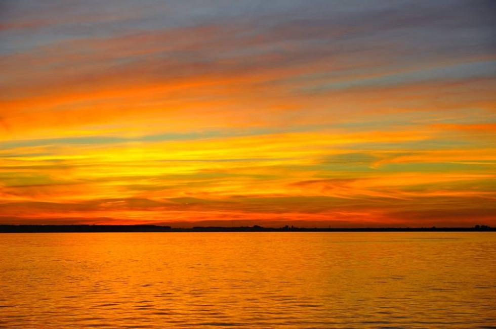 Чарівний захід сонця на Світязі