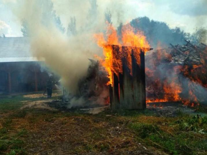 Вночі у Луцькому районі сталася пожежа у дачному масиві