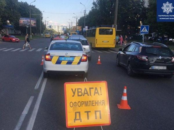 На Гордіюк у Луцьку сталася аварія з потерпілими