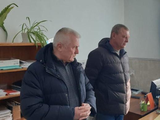 Фото з візиту голови райради та його підлеглих у Ківерцівську друкарню