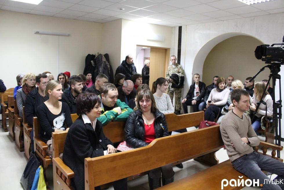 Підтримати Віктора Котика прийшло чимало людей
