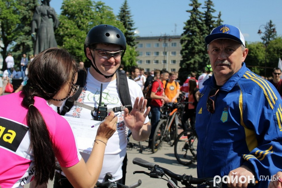 Директор департаменту інфраструктури та туризму Волинської ОДА Іван Мирка також долучився до велопробігу