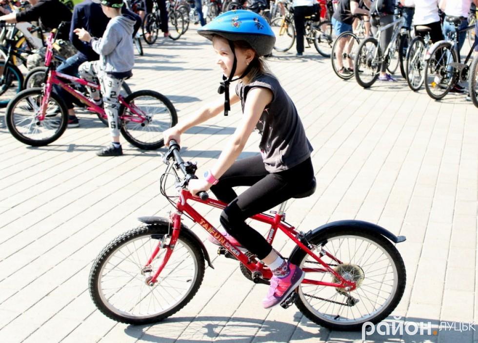 Діти з великою охотою взяли участь у велопробізі