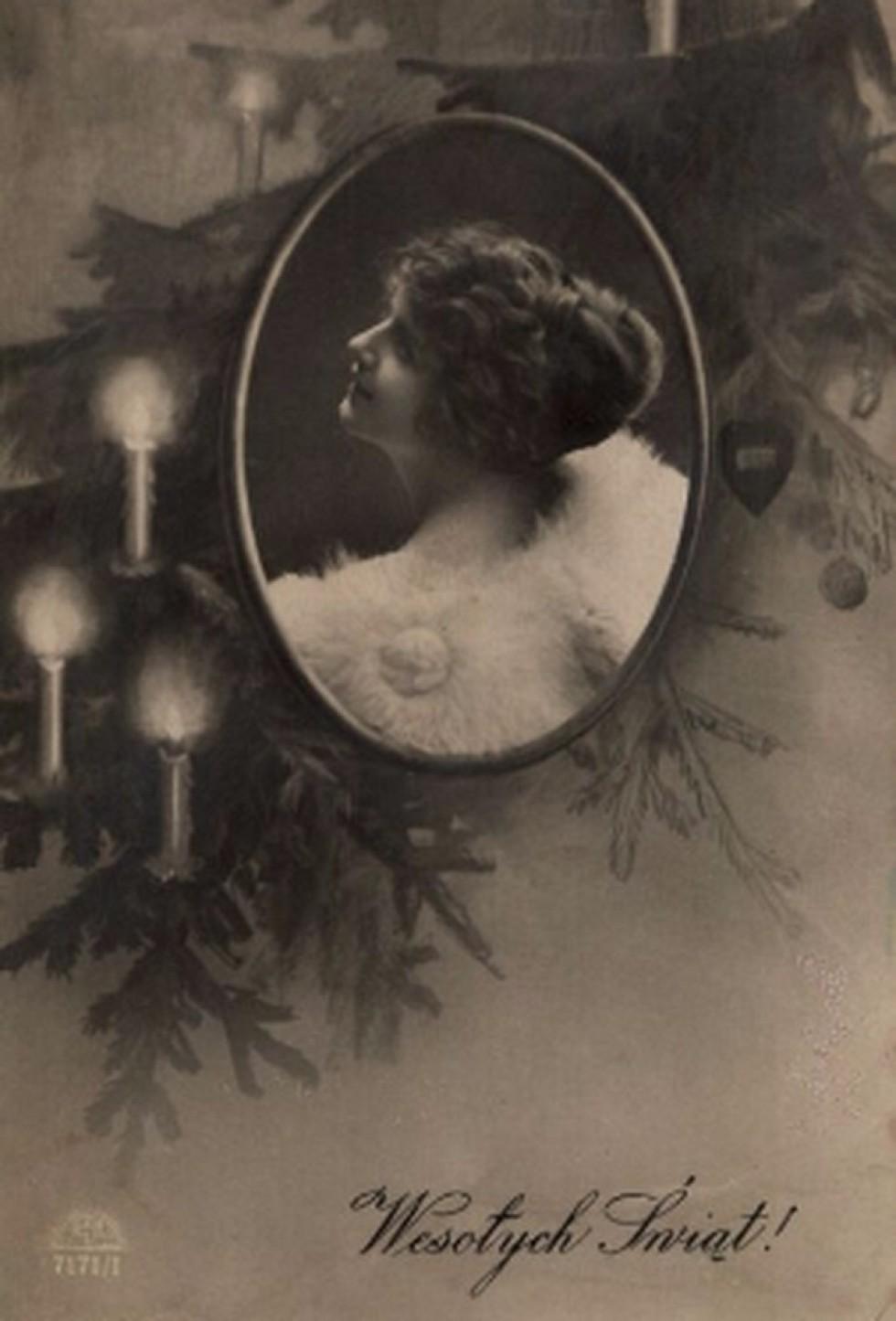 Польські різдвяно-новорічні листівки, 1920 – 1930-і роки. Тут і далі – фото з Polona.pl