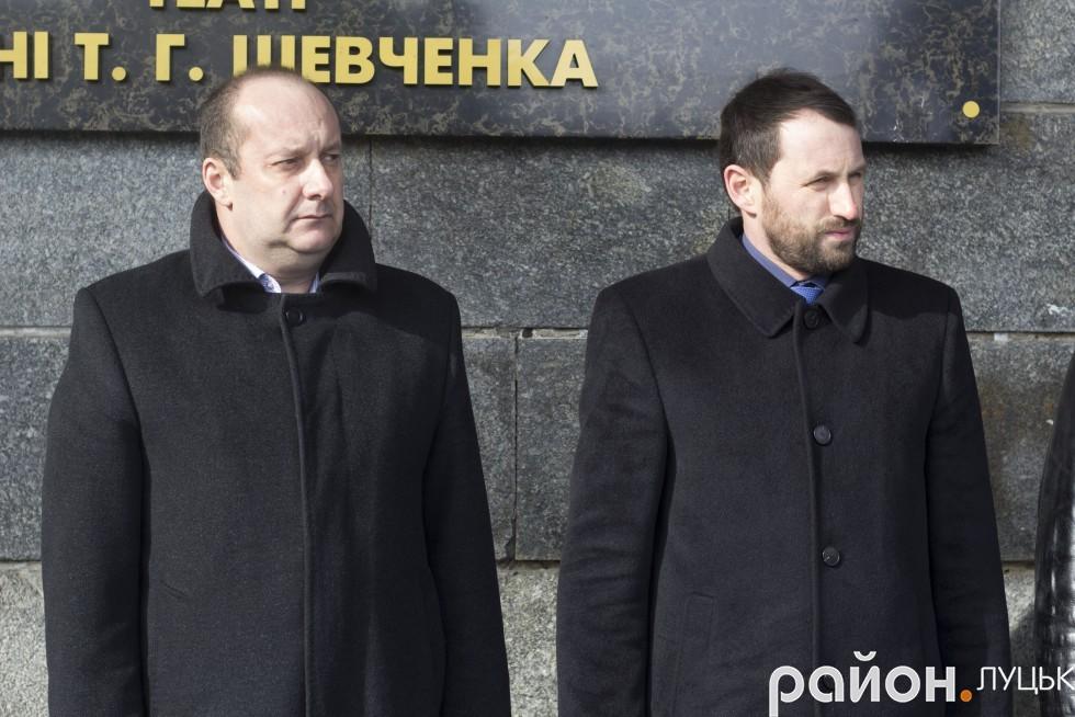 Заступники міського голови Андрій Киця (зліва) та Сергій Григоренко