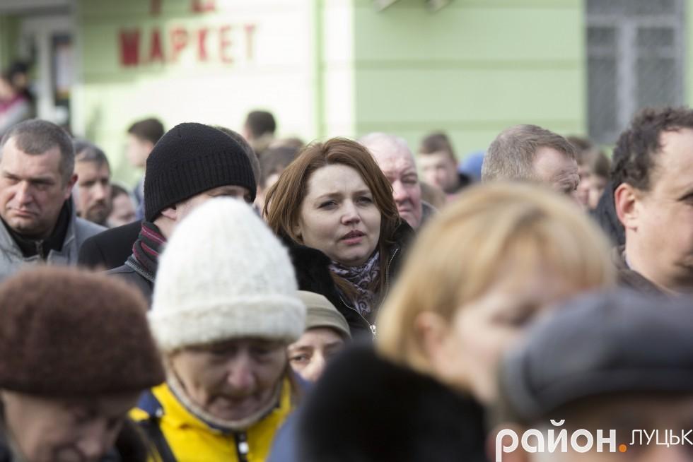 Депутат Луцькради Алла Надточій