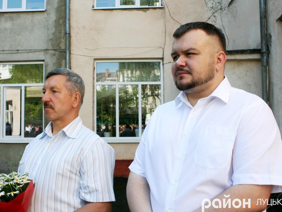 Директор ЛПЕ Ігор Грицюк (справа)