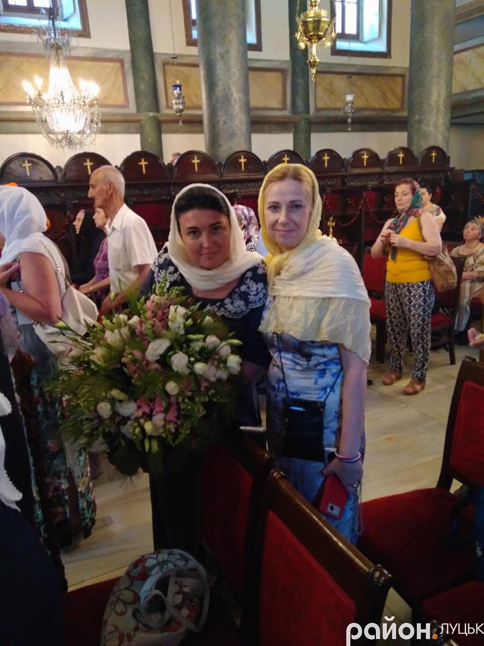 Лучанки Тетяна Євдикомива і Катерина Федончук