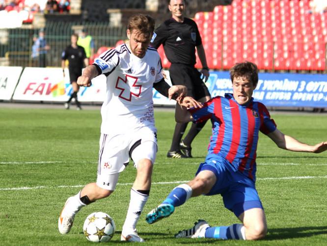 Кадр з матчу «Волині» та «Арсенала» у сезоні 2012/13