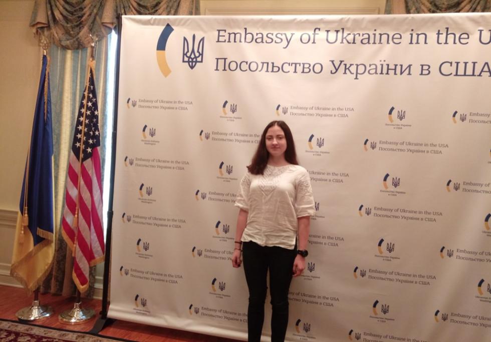 Візит лучанки до посольства