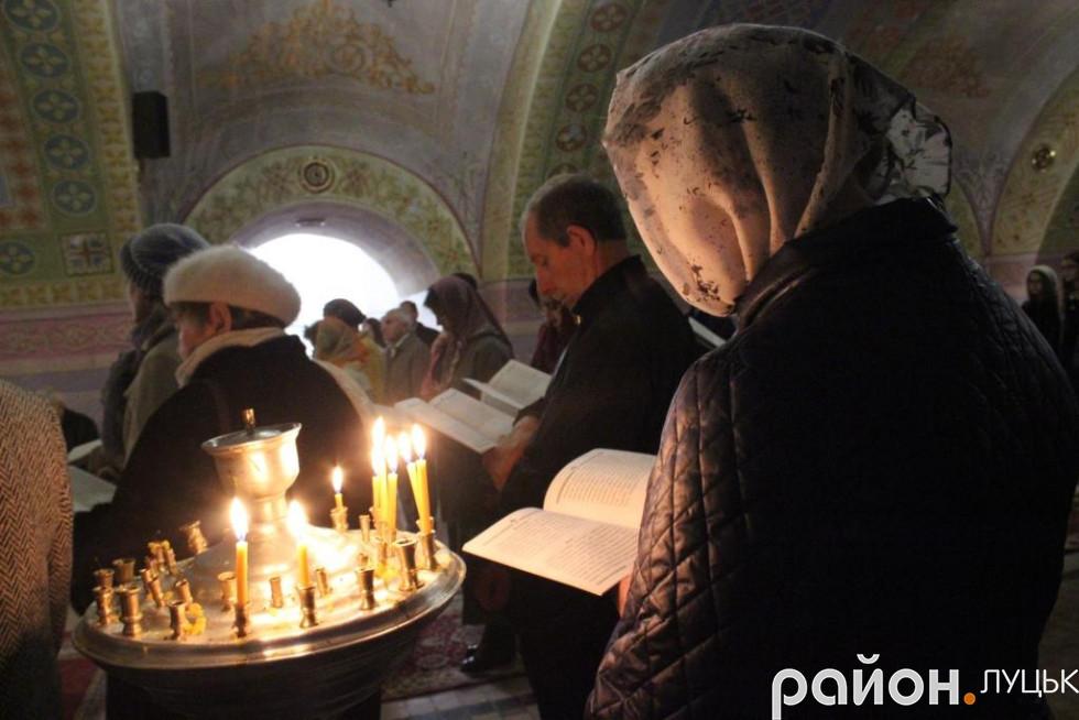 Поетичний акафіст читали у Свято-Троїцькому соборі у Луцьку