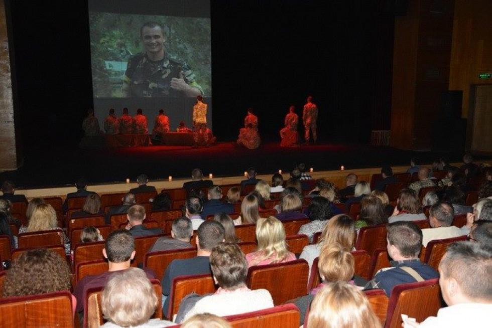 Під час вистави-реквієм «Війна без строку…»