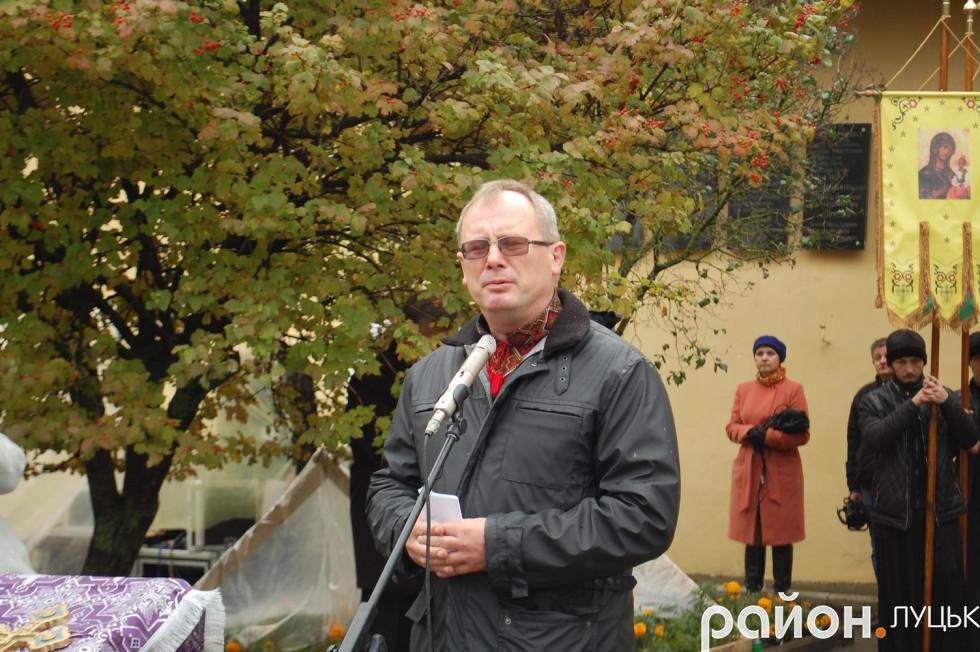 Краєзнавець і безпосередній учасник розкопок Сергій Годлевський
