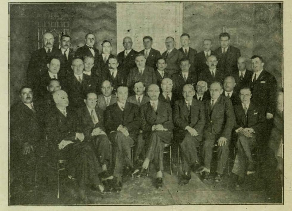Волинська парламентарна група «BBWR» (Беспартійний блок співпраці з владою), Луцьк. 1933 р.