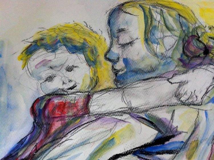 Картина із зображенням взаємин матері і дитини