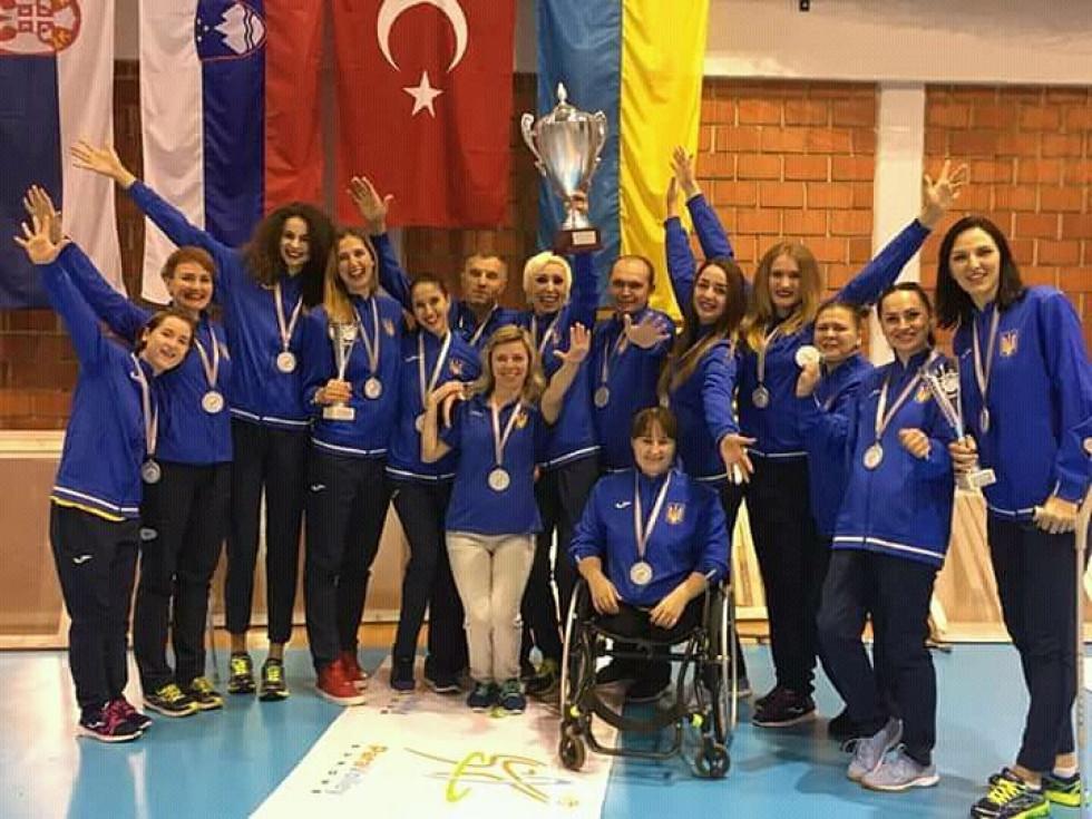 Радість збірної України - фіналісток чемпіонату Європи з параволейболу