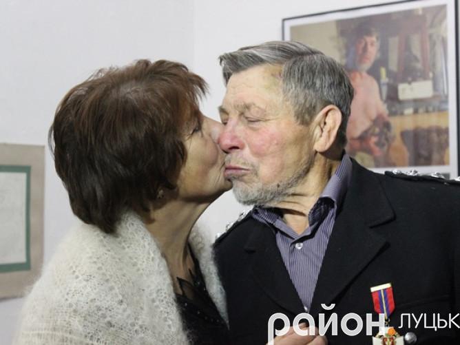 Скульптор Микола Головань з дружиною
