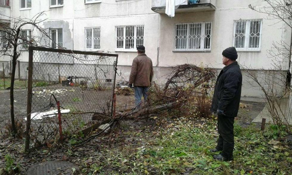 У Луцьку на двох прибудинкових територіях демонтували незаконні конструкції