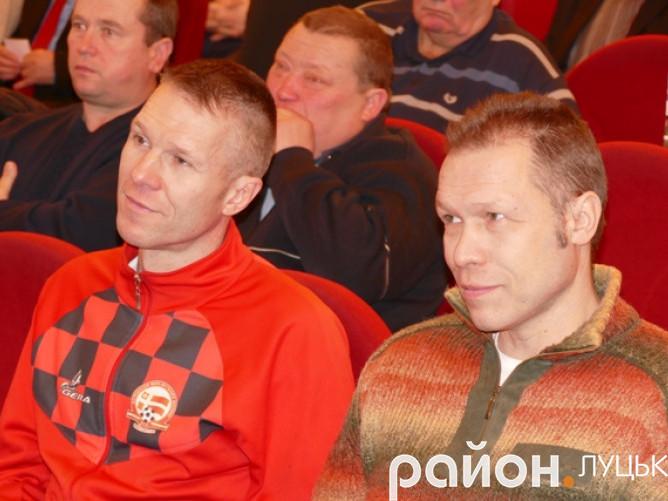 Голова АМФВ Сергій Голоскоков (справа) та виконавчий директор Асоціації Дмитро Голоскоков (зліва)