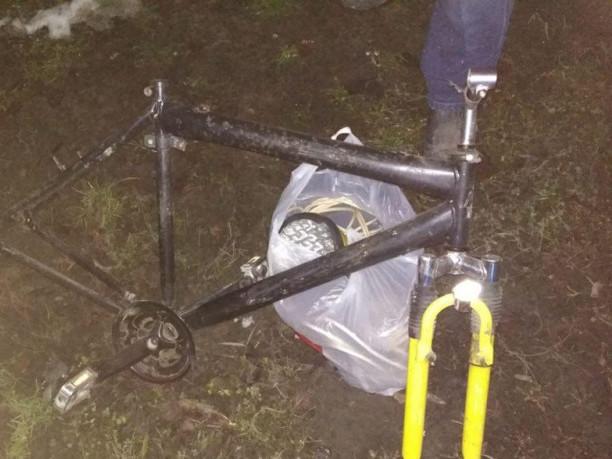 Крадена рама велосипеда