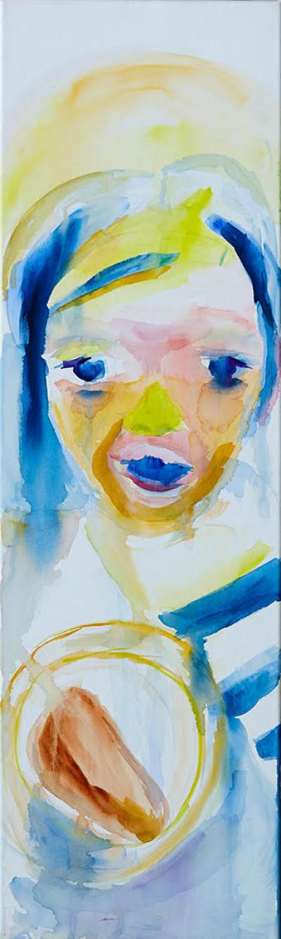 Фото картини «Анна», акварель, Юлія Марушка, фото Беррі Берендт